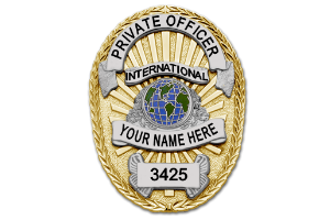 Private Officer Two-Tone Badge
