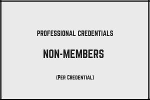 Professional Credentials - Non-Members
